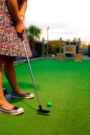 Playing Miniature Golf, North Carolina