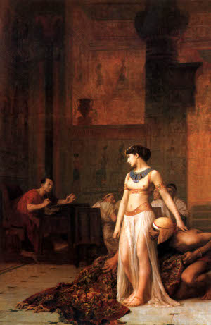 Gerome, Cleopatra before Caesar, 1866