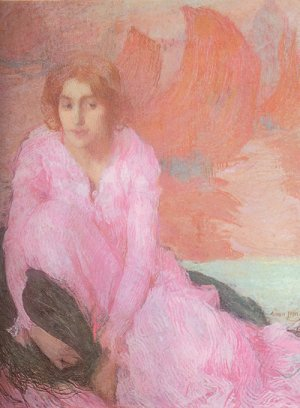 Edmond Aman-Jean Lady in Pink