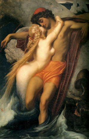 Lord Frederick Leighton,  Fisherman and the Syren