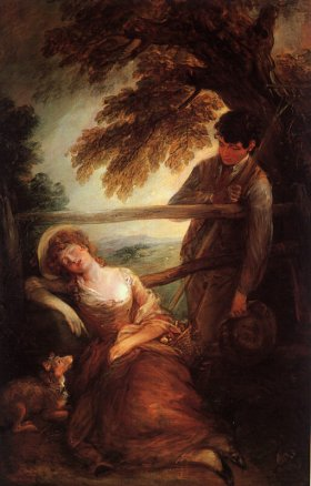 Gainsborough, Haymaker and the Sleeping Girl, Boston Museum of Art , late 1780s