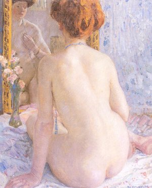 Reflections (Marcelle)                                        Carl Frieseke 1909
